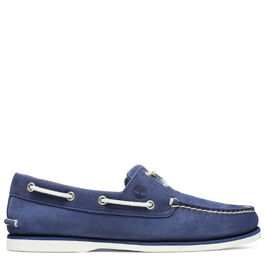 Classic 2-Eye Boat Shoe for Men in Blue | Timberland
