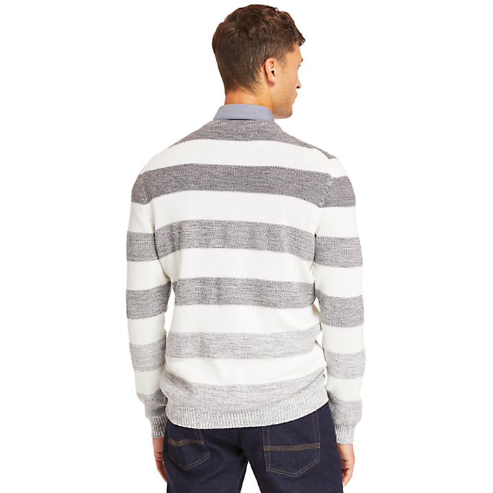 Beebe River Organic Cotton Sweater for Men in Grey-