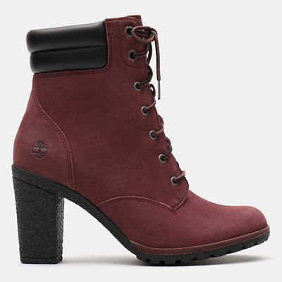 Stivaletto+6+Inch+da+Donna+Tillston+in+bordeaux