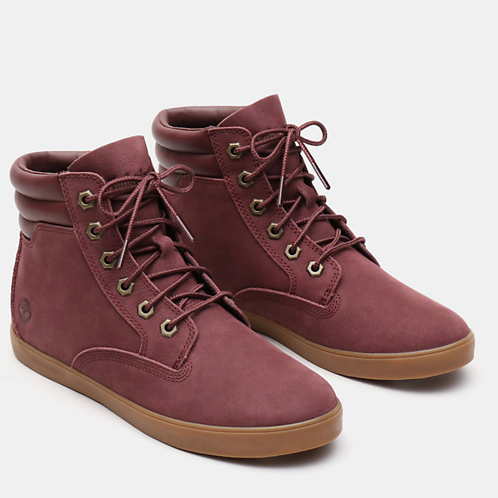 Dausette High Top Sneaker für Damen in Burgunderrot-