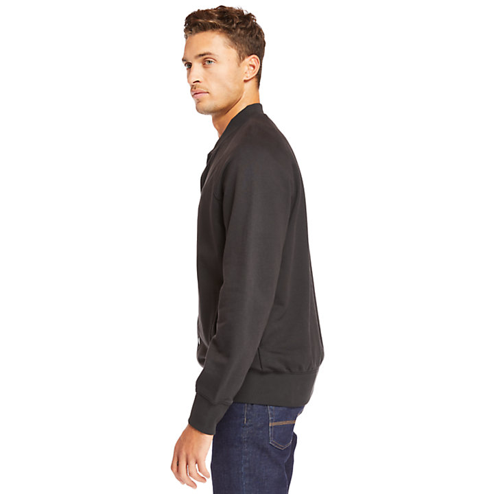 Otter Brook Varsity Bomber Jacket for Men in Black-