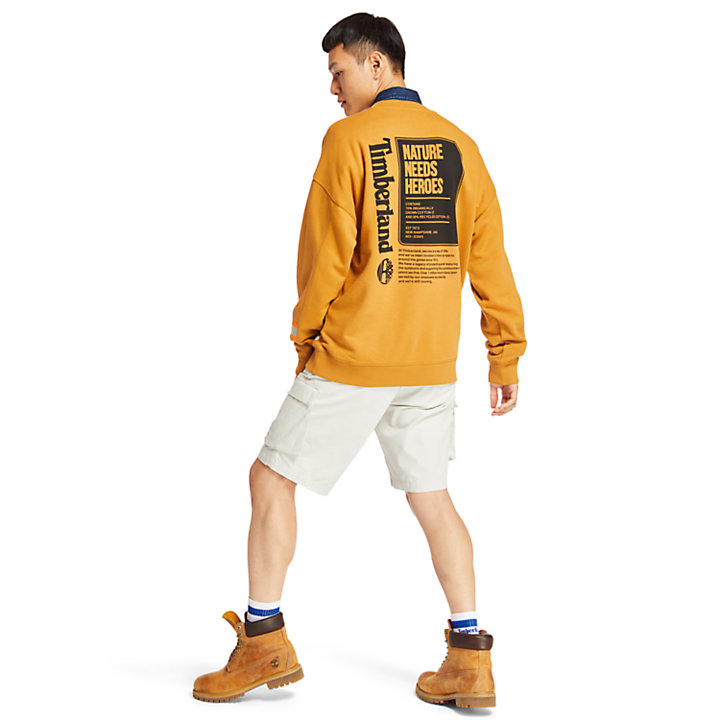 Hampton Falls River Sweatshirt for Men in Yellow-