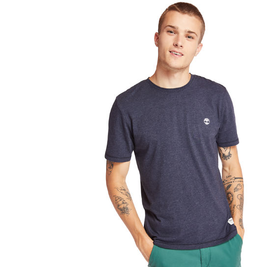 Mohawk River T-Shirt for Men in Navy | Timberland