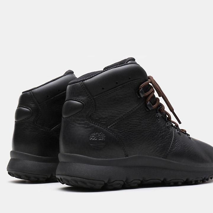 World Hiker Leather Hiking Boots für Herren in Schwarz-
