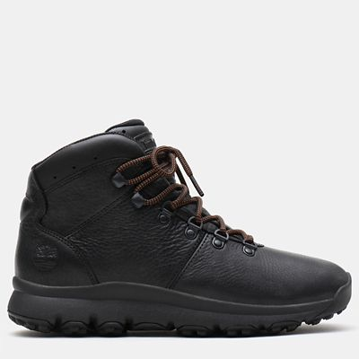 World+Hiker+Leather+Hiking+Boot+for+Men+in+Black