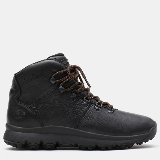 World Hiker Leather Hiking Boots für Herren in Schwarz | Timberland
