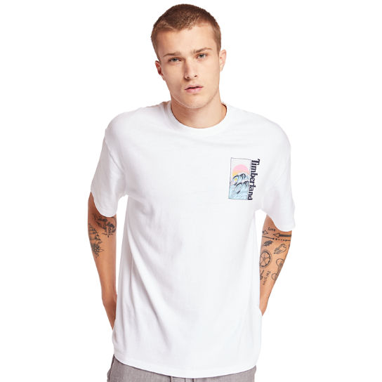 Kennebec River Beach T-shirt voor Heren in wit | Timberland