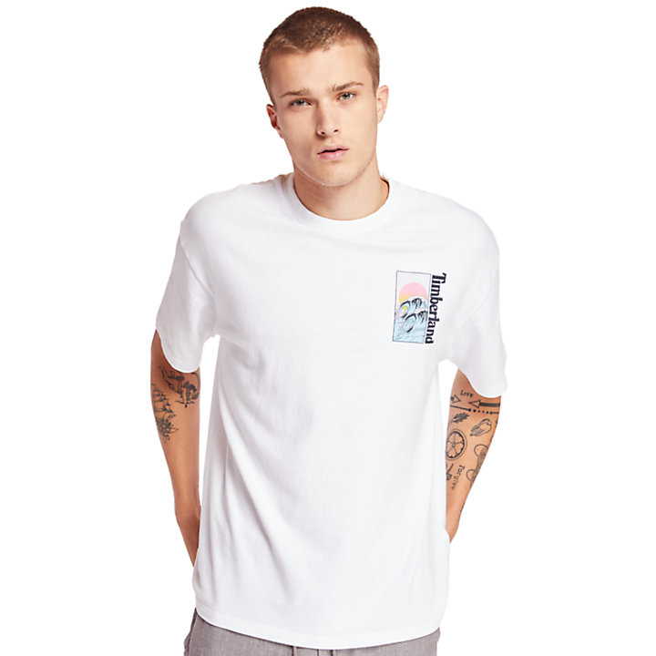 Kennebec River Beach T-shirt voor Heren in wit-