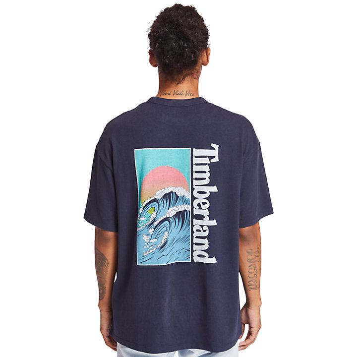 Kennebec River Beach T-shirt voor Heren in marineblauw-