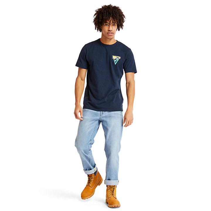 Sawyer River Coastal Roamers T-Shirt for Men in Navy-