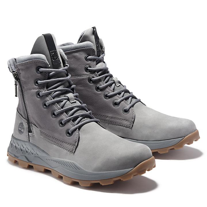 Brooklyn Side Zip Stiefel für Herren in Grau-
