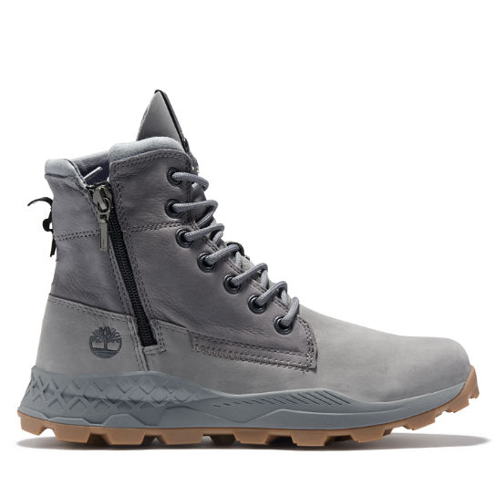 Brooklyn Side Zip Boot for Men in Grey | Timberland