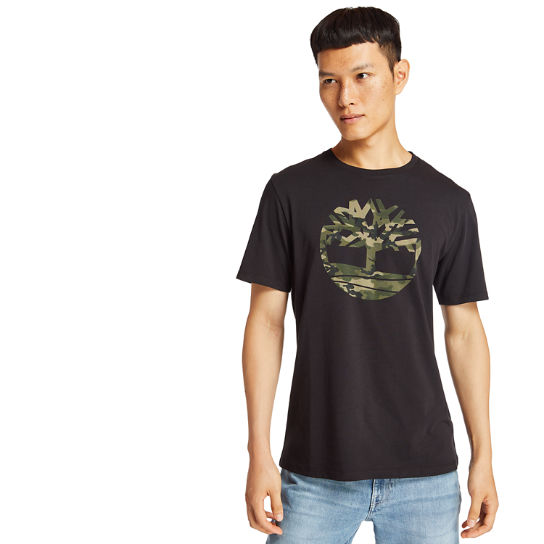 Kennebec River Camo Tree T-Shirt for Men in Black | Timberland