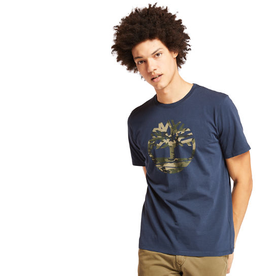 Kennebec River Camo Tree T-Shirt for Men in Navy | Timberland