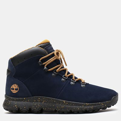 World+Hiker+Leather+Hiking+Boot+for+Men+in+Navy+Suede