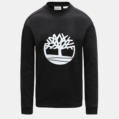 Tree+Logo+Sweatshirt+for+Men+in+Black
