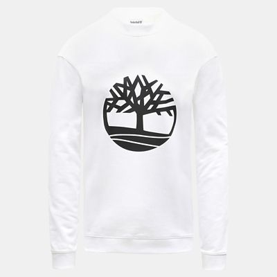 Tree+Logo+Sweatshirt+for+Men+in+White