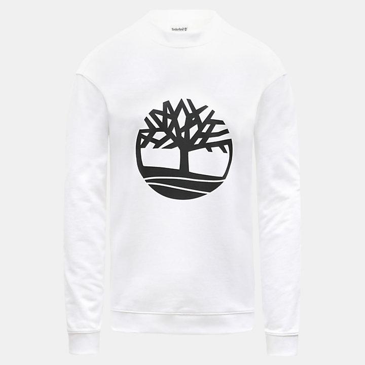 Tree Logo Sweatshirt voor Heren in wit-