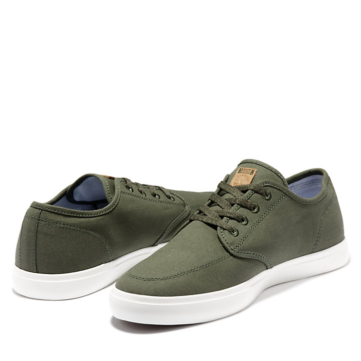 Sneaker da Uomo Union Wharf Derby in verde scuro o marrone-