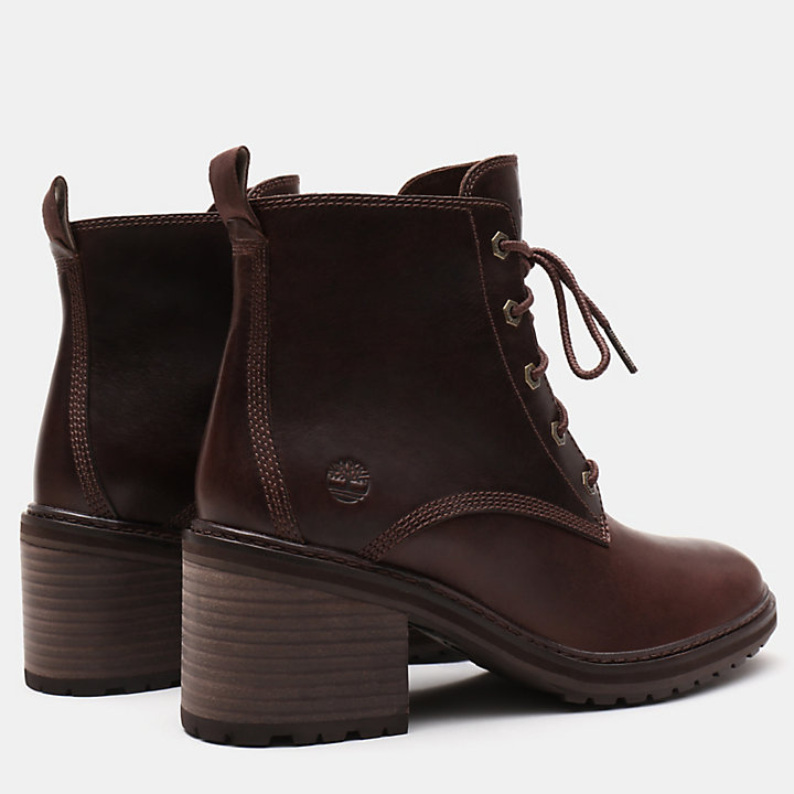 Sienna High Lace-Up Boot voor Dames in donkerbruin-