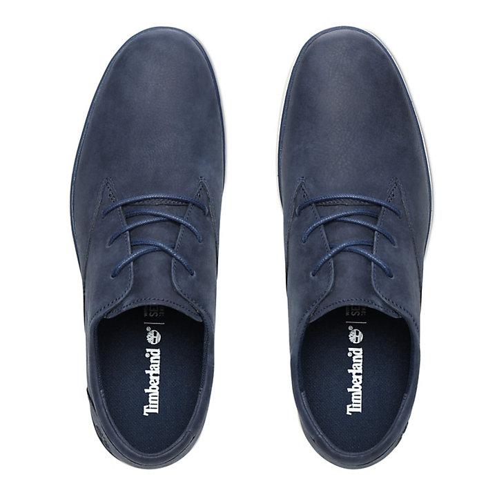 Oxford Bradstreet en cuir pour homme en bleu marine-
