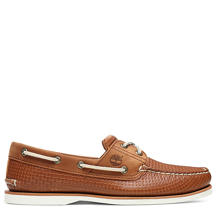 Classic 2 Eye Boat Shoe for Men in Tan