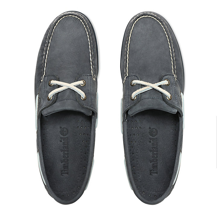 Classic 2-Eye Boat Shoe for Men in Dark Grey-