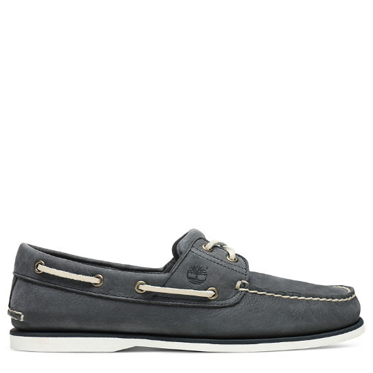 Classic 2-Eye Boat Shoe for Men in Dark Grey | Timberland