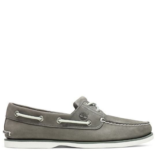 Classic 2-Eye Boat Shoe for Men in Grey | Timberland