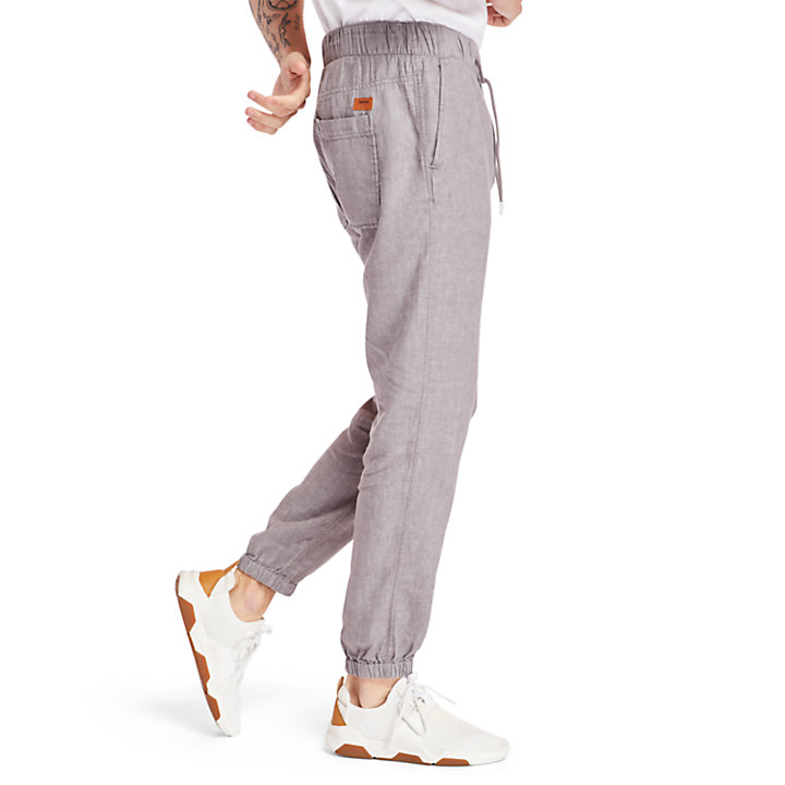Profile Lake Tracksuit Bottoms for Men in Grey-