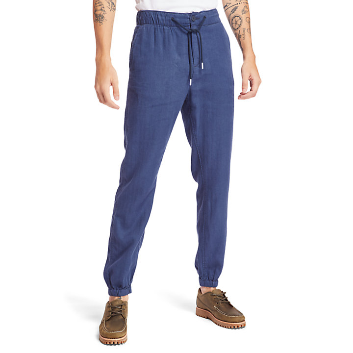 Profile Lake Tracksuit Bottoms for Men in Navy-