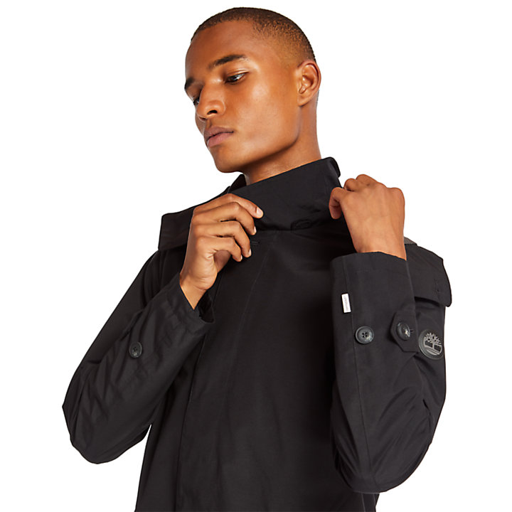 Doubletop Mountain Raincoat for Men in Black-