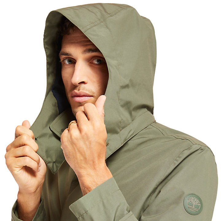Doubletop Mountain Raincoat for Men in Green-