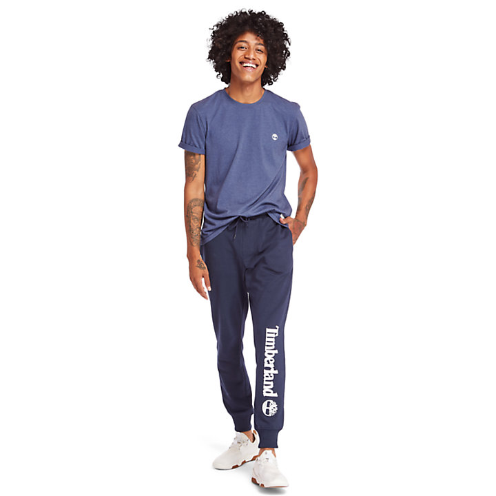 Timberland® Logo Sweatpants for Men in Navy-