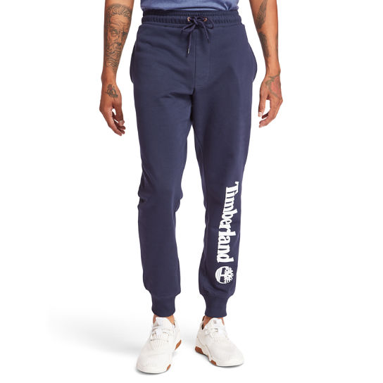 Timberland® Logo Sweatpants for Men in Navy | Timberland