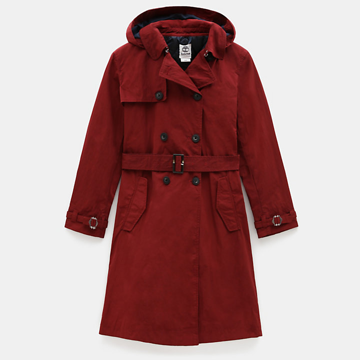 Mount Mitten 2-in-1-Trenchcoat für Damen in Dunkelrot-