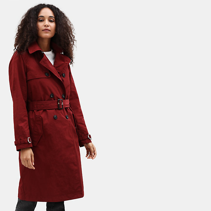Mount Mitten 2-in-1 Trenchcoat voor Dames in donkerrood-