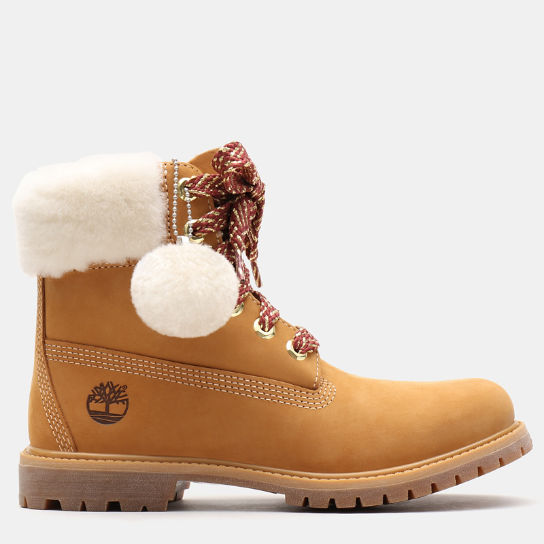 6 Inch Shearling Boot for Women in Yellow | Timberland