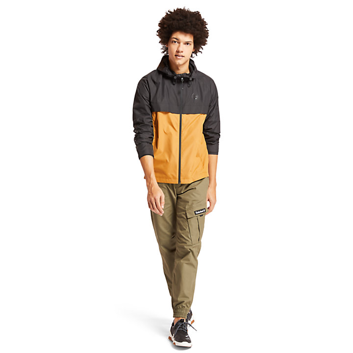 Hooded Shell Jacket for Men in Black-