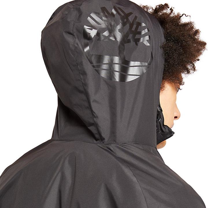 Shell-Jacke mit Kapuze für Herren in Schwarz-