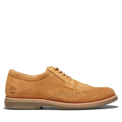 Oxford+Brogue+City+Groove+para+Hombre+en+amarillo