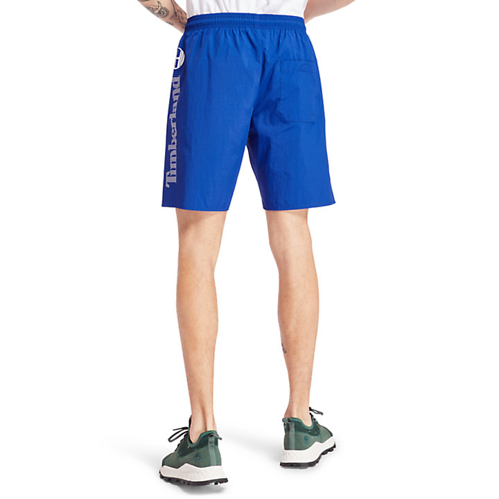 Sunapee Lake Swimming Trunks for Men in Blue-