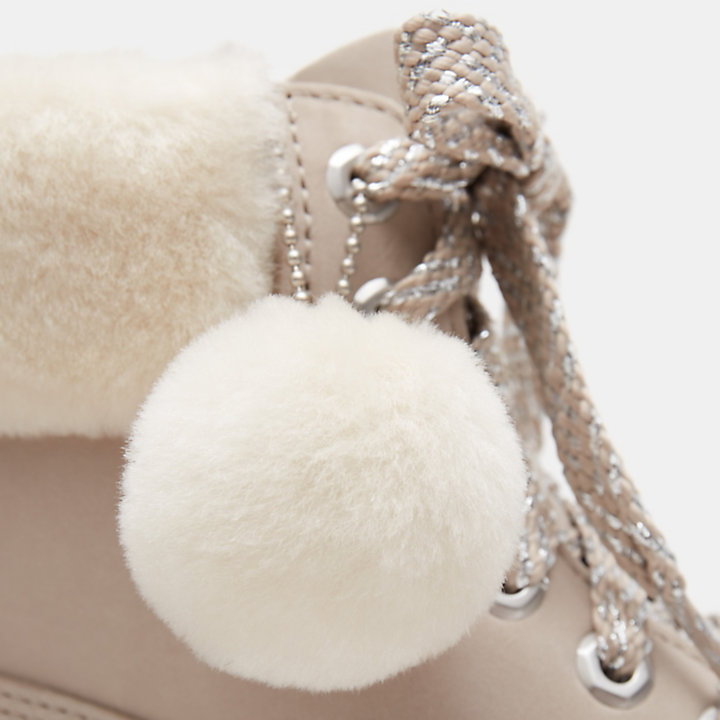 6-inch Shearling Boot voor Dames in lichtroze-