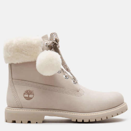 6 Inch Shearling Boot for Women in Light Pink | Timberland