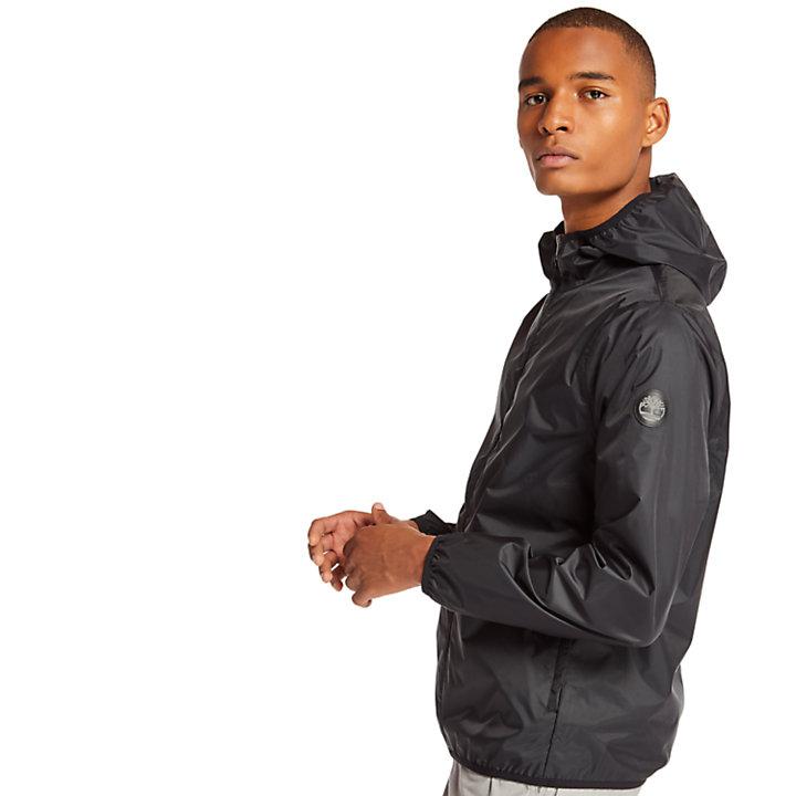 Mt Franklin Packable Rain Jacket for Men in Black-