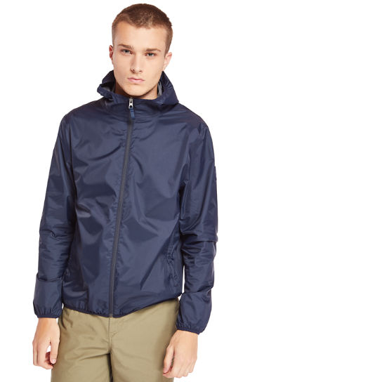 Mt Franklin Packable Rain Jacket for Men in Navy | Timberland