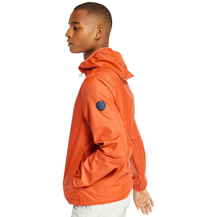 Mt Franklin Packable Rain Jacket for Men in Peach-