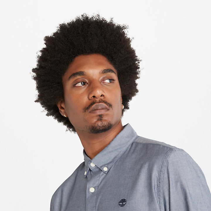 Ela River Oxford Shirt for Men in Navy-