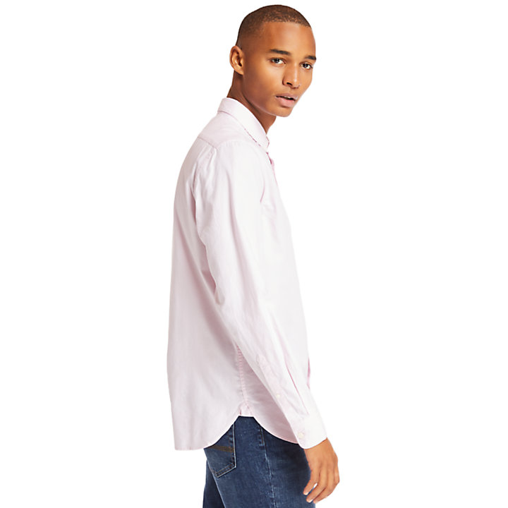 Camisa Oxford Ela River para Hombre en lila-