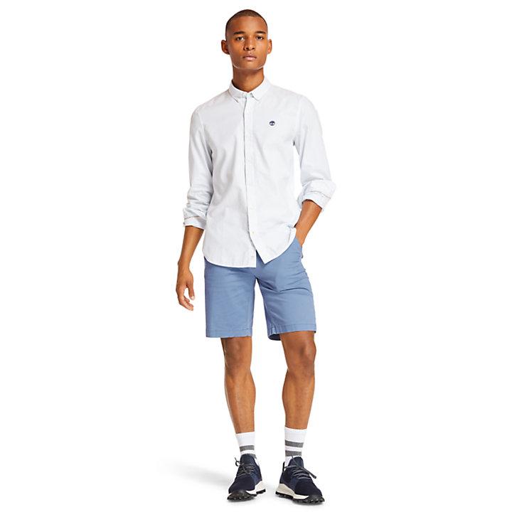 Chemise à rayures Ela River homme en bleu clair-